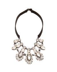 Noir Jewelry | Metallic Nightfall Leather Bib Necklace | Lyst