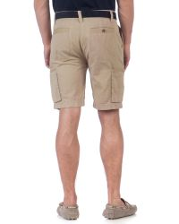 Ted Baker Natural Satzara Slim Fit Cargo Shorts for men