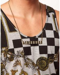 ASOS - Metallic Asos Like A Boss Necklace for Men - Lyst