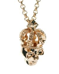 ASOS - Metallic Skull Crown Necklace for Men - Lyst
