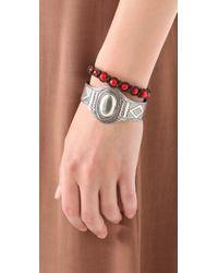 Chan Luu - Red Single Strand Bracelet - Lyst