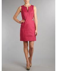 MICHAEL Michael Kors Pink Shift Dress with Zip Detail