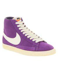 Nike Blazer Hi Suede Vntage Purple White for men