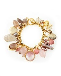 Stephen Dweck - Multicolor Mixed Stone Charm Bracelet - Lyst