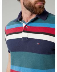 Tommy Hilfiger Blue Spafford Stripe Polo for men