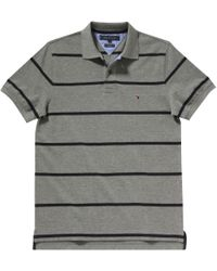 Tommy Hilfiger Gray Bar Stripe Polo for men