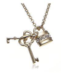 Chloé | Metallic Padlock Necklace | Lyst
