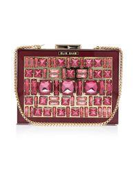 Elie Saab Red Box Crystal Clutch Bag
