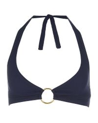 Elizabeth Hurley Beach | Blue June Bikini Top | Lyst