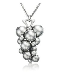 Georg Jensen - Metallic Moonlight Grapes Pendant - Lyst