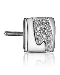 Georg Jensen - White Fusion Stud Earrings - Lyst