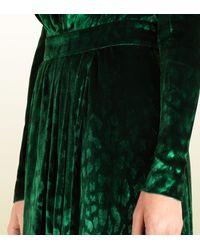Gucci Green Velvet Deep Vneck Gown