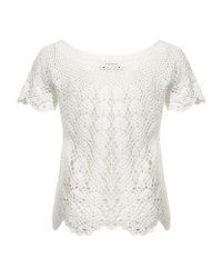 Jaeger White Crochet Top