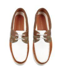 KG by Kurt Geiger White Sorrento Deck Shoe for men