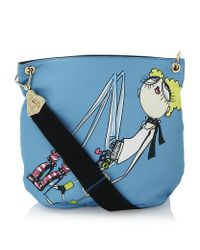 Love Moschino Blue Charming Girl Shoulder Bag