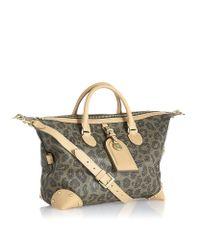 Mulberry Multicolor Leopard Scotch Grain Boston Bag