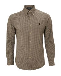 Polo Ralph Lauren Black Long Sleeved Mini Gingham Shirt for men