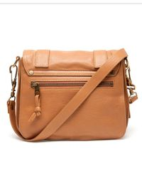Proenza Schouler Brown Ps1 Small Leather Satchel