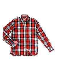 Tommy Hilfiger Red Tommy Hilfiger Fabo Check Shirt  for men