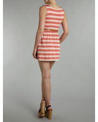 Wal-G Red Horizontal Stripe Dress