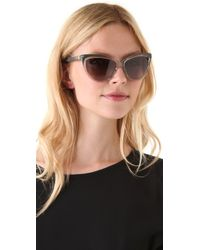 Saint Laurent - Multicolor Exaggerated Cat Eye Sunglasses - Lyst