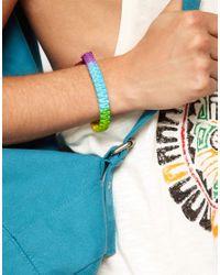 ASOS | Rubber Bead Bracelet In Black And Khaki for Men | Lyst