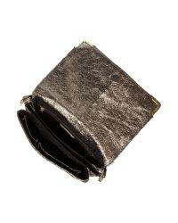 Biba Green Gretal Leather Shoulder Bag