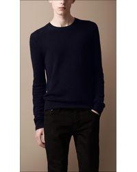 Burberry Brit | Blue Crew Neck Cashmere Sweater for Men | Lyst