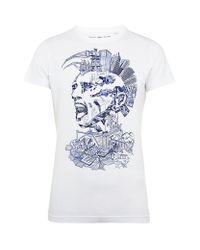 DIESEL White Mohawk City T-shirt for men