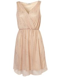 TOPSHOP Pink Sequin Fabric Dress By Rare