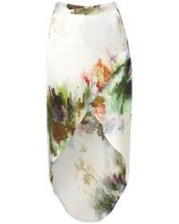 TOPSHOP White Colour Burst Maxi Skirt