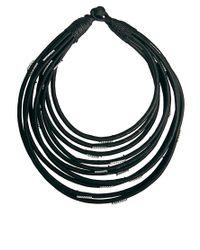 ASOS - Black Multi Row Scarf Necklace - Lyst