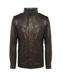 Z Zegna | Brown Leather Jacket for Men | Lyst