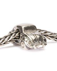 Trollbeads - Metallic Silver Beetle Charm - Lyst