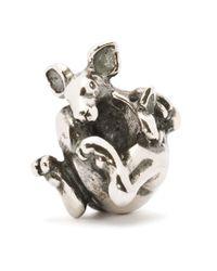 Trollbeads | Metallic Silver Kangaroo With Joey Charm | Lyst