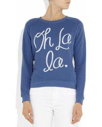 Zoe Karssen   Blue Oh La La Cottonblend Jersey Sweatshirt   Lyst