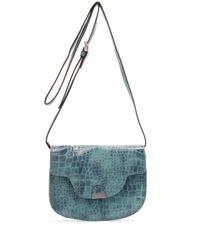 Mango | Blue Messenger Handbag | Lyst