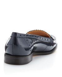 Via Spiga - Blue Rey Patent Leather Loafer - Lyst