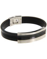 Breil - Cave Leather Bracelet with Black Ip Tag for Men - Lyst
