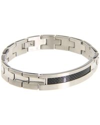 Breil | Metallic Cave Stainless Steel and Carbon Fiber Bracelet for Men | Lyst