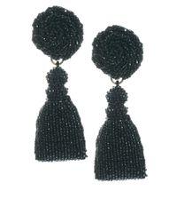 Danielle Scutt - Black Beaded Drop Earrings - Lyst