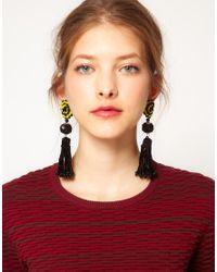 Danielle Scutt Blue Tassel Earrings