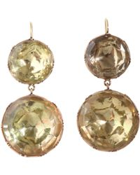 Olivia Collings | Metallic Double Foiled Citrine Earrings | Lyst