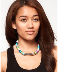 River Island - Multicolor Wrap Statement Necklace - Lyst