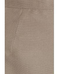 Valentino   Gray Woven Silk Pencil Skirt   Lyst