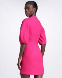 Alexander McQueen | Pink Floralneck Dress Fuchsia | Lyst
