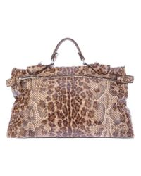 Zagliani | Brown Python Bag | Lyst