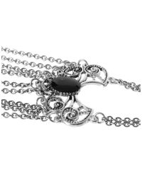 ASOS - Metallic Filigree Enamel Hand Harness - Lyst