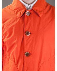 Chatcwin Orange Trench Coat for men