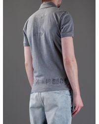 John Galliano Gray Polo Shirt for men